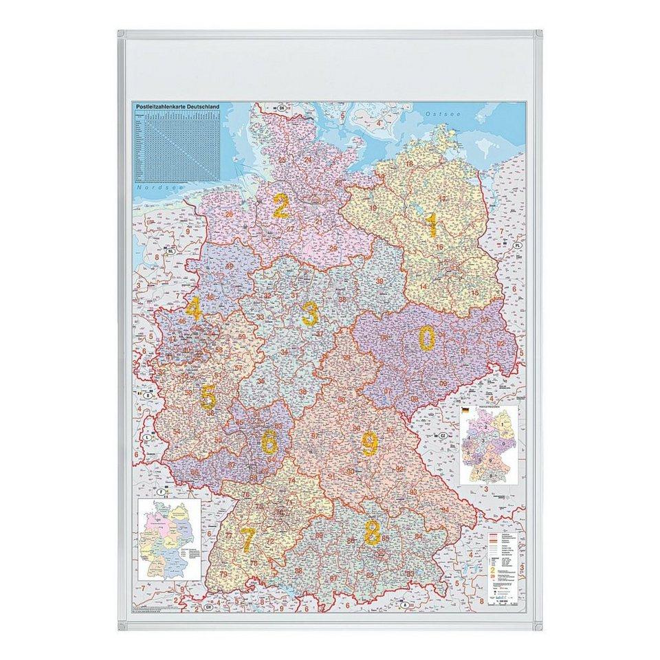 Franken Postleitzahlenkarte in 48128