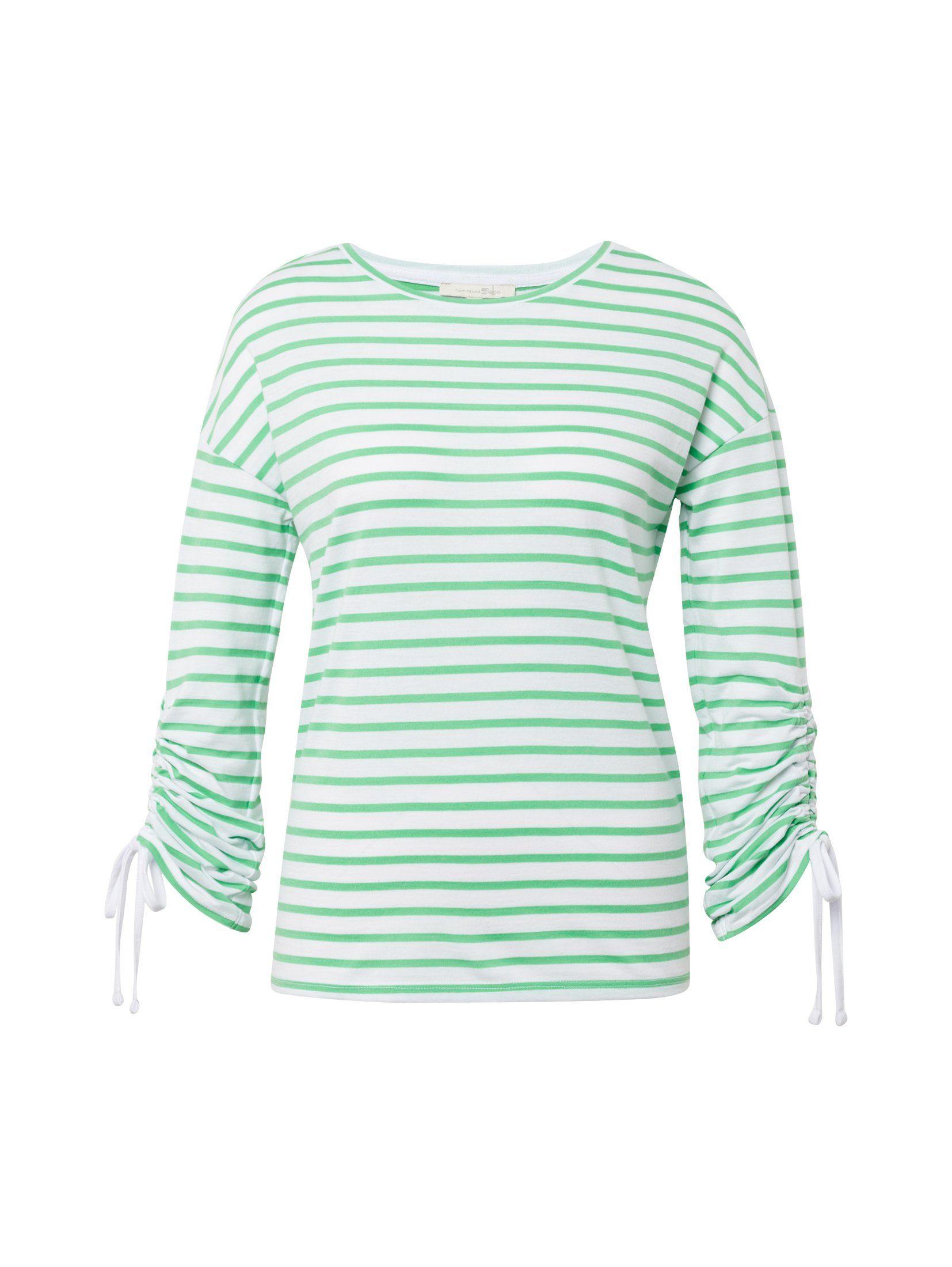 Langarmshirt Tailor »gestreiftes Langarmshirt« Kaufen Denim Tom Online oCeBxd