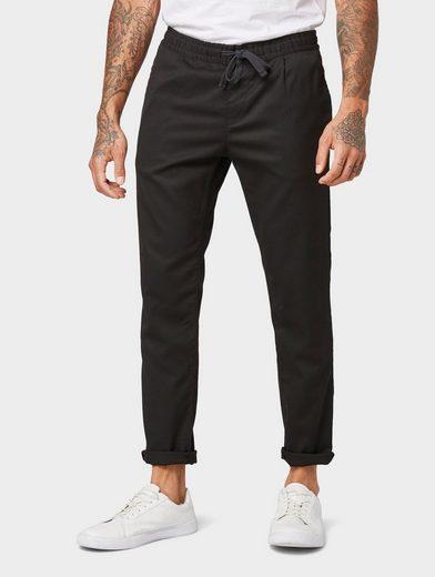 TOM TAILOR Denim 5-Pocket-Hose »Strukturierte Cropped Chino Jogginghose in Ankle-Länge«