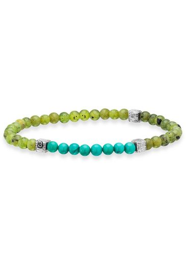 BALDESSARINI Armband »Y2079B/90/O8« mit Jade und Türkisperlen