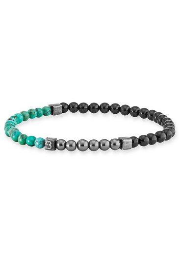 BALDESSARINI Armband »Y2077B/90/O7« mit Jade und Türkisperlen