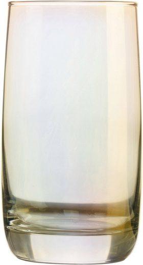 Luminarc Longdrinkglas »Shiny« (4-tlg), farblich beschichtet