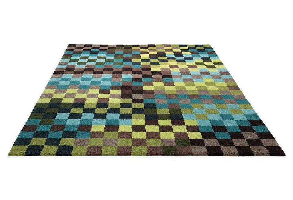 Marken-Teppich, Esprit, »Pixel«, handgetuftet in türkis