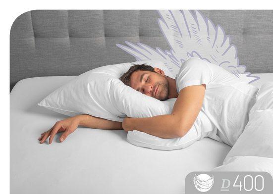 Federkissen, »D400«, Schlafstil, Füllung: 30% Daunen, 70% Federn, Bezug: 100 % Baumwolle, (1-tlg)