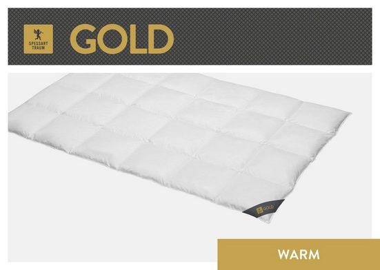 Gänsedaunenbettdecke, »Gold«, SPESSARTTRAUM, warm, Füllung: 100% Gänsedaunen, Bezug: 100% Baumwolle, (1-tlg)