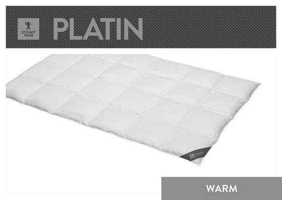 Gänsedaunenbettdecke, »Platin«, SPESSARTTRAUM, warm, Füllung: 100% Gänsedaunen, Bezug: 100% Baumwolle, (1-tlg)