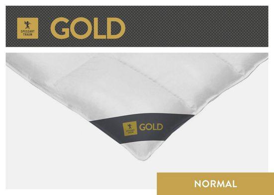 Gänsedaunenbettdecke, »Gold«, SPESSARTTRAUM, normal, Füllung: 100% Gänsedaunen, Bezug: 100% Baumwolle, (1-tlg)