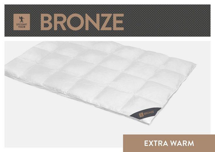 Daunenbettdecke, »Bronze«, SPESSARTTRAUM, extrawarm, Füllung: 90% Daunen, 10% Federn, Bezug: 100% Baumwolle, (1-tlg)