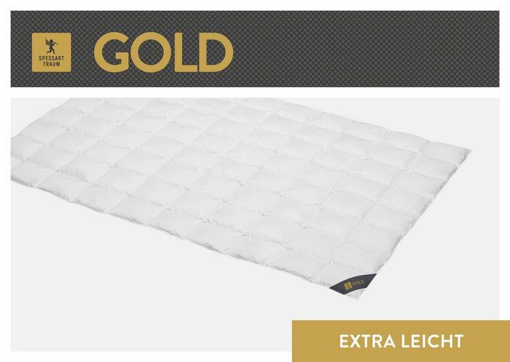 Gänsedaunenbettdecke, »Gold«, SPESSARTTRAUM, extraleicht, Füllung: 100% Gänsedaunen, Bezug: 100% Baumwolle, (1-tlg)