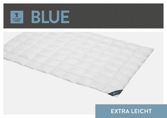 Daunenbettdecke, »Blue«, SPESSARTTRAUM, Füllung: 60% Daunen, 40% Federn, Bezug: 100% Baumwolle, hergestellt in Deutschland, allergikerfreundlich