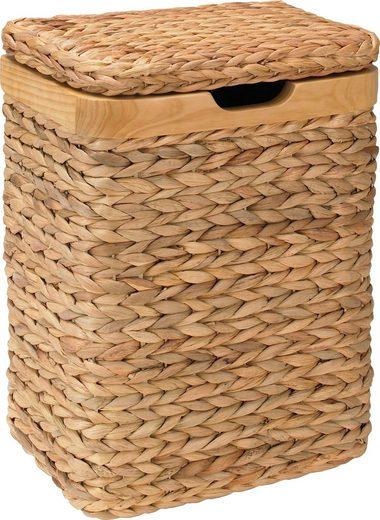 Home affaire Wäschebox, mit natur Holzrahmen