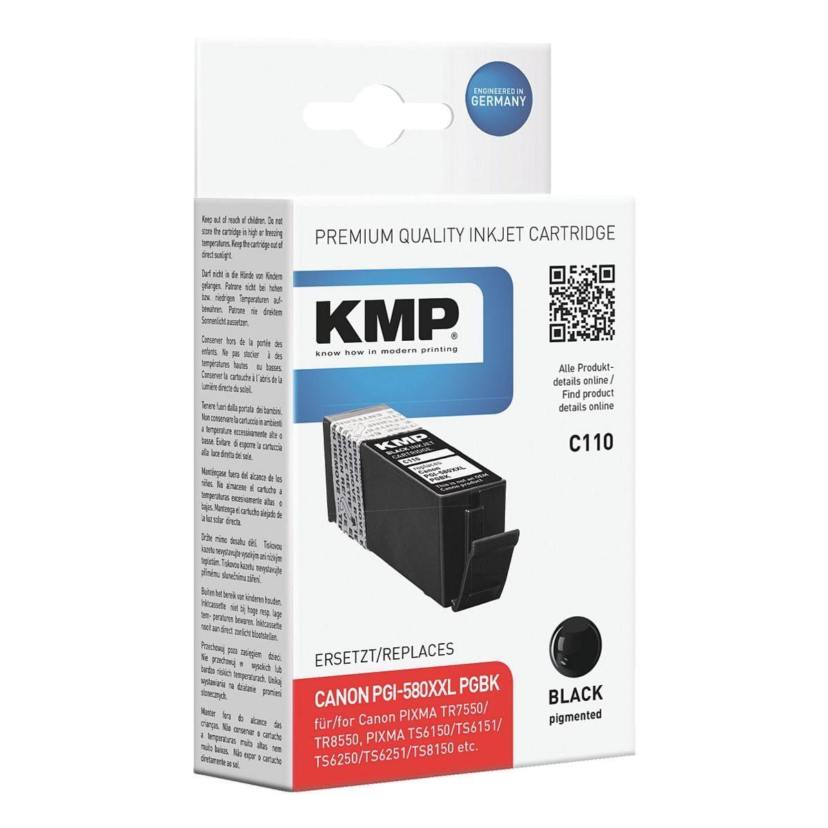 KMP Tintenpatrone ersetzt Canon »PGI-580XXL PGBK«
