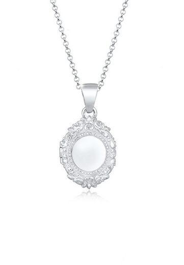 Elli Collierkettchen »Amulett Medallion Ornament 925er Silber«