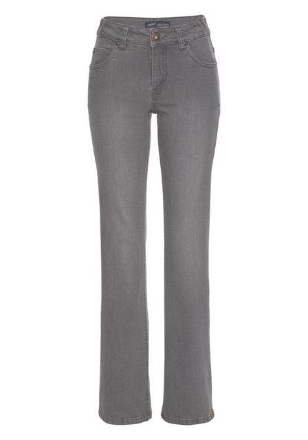 Hosen - Arizona Bootcut Jeans »Svenja Bund mit seitlichem Gummizugeinsatz« High Waist › grau  - Onlineshop OTTO