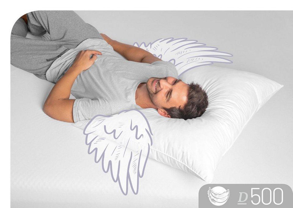 Daunenkissen D500 Schlafstil Fullung 60 Daunen 40 Federn Bezug 100 Baumwolle 1 Tlg Online Kaufen Otto