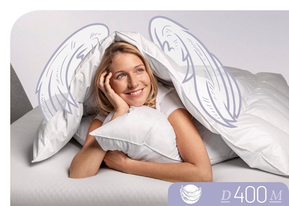 Daunenbettdecke D400 Schlafstil Leicht Fullung 90 Daunen 10 Federn Bezug 100 Bauwolle 1 Tlg Online Kaufen Otto