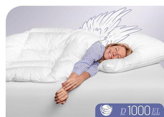 Daunenbettdecke, »D1000«, Schlafstil, extraleicht, Füllung: 100 % Eiderdaune, (1-tlg), Höchste Leichtigkeit