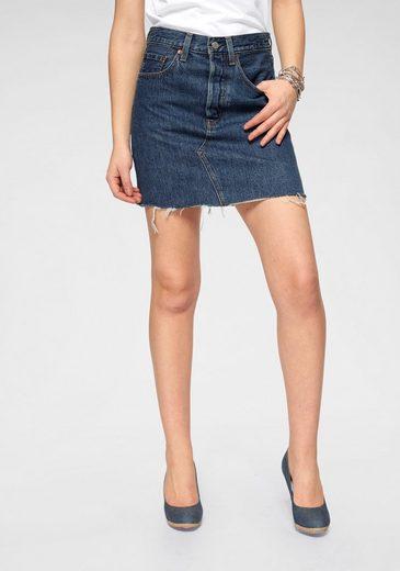 Levi's® Jeansrock »deconstructed Iconic Skirt« Mit Fransen am Saum