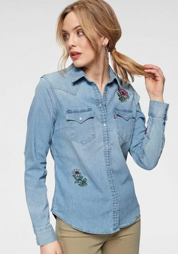 Levi's® Jeansbluse »Ultimate Western-Shirt« Blumensticherei vorne, im Rücken und an den Ärmeln