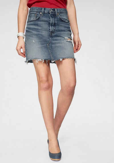 d950fc5f8f728b Levi's® Jeansrock »high rise Iconic Skirt« Jeansrock mit Fransen und hoher  Taille
