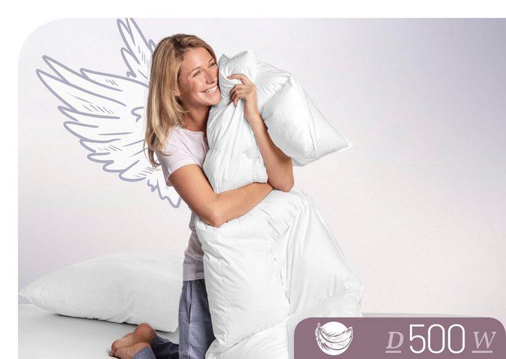 Daunenbettdecke, »D500«, Schlafstil, warm, Füllung: 100% Daunen, Bezug: 100% Baumwolle, (1-tlg)