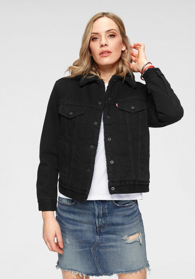 new arrival 159f4 54c62 Levi's® Jeansjacke »EX-Boyfriend Sherpa« Mit wärmendem Teddy-Futter online  kaufen | OTTO