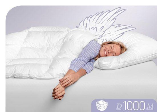 Daunenbettdecke, »D1000«, Schlafstil, leicht, Füllung: 100% Eiderdaunen, (1-tlg), Höchste Leichtigkeit bei besten Wärmeverhalten