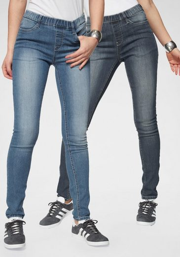 Flashlights Jeansjeggings (Packung, 2er-Pack) High Waist