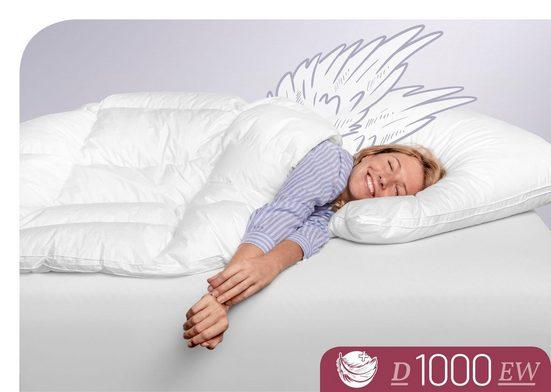 Daunenbettdecke, »D1000«, Schlafstil, extrawarm, Füllung: 100 % Eiderdaunen, (1-tlg), höchste Leichtigkeit