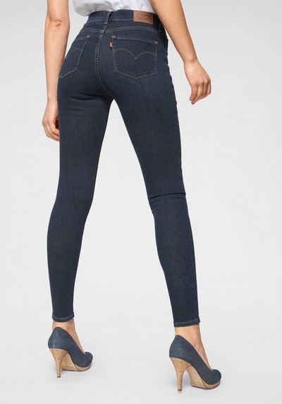 Neu Damen Hose in Schwarz hell Blau oder Navy Glanz Satin