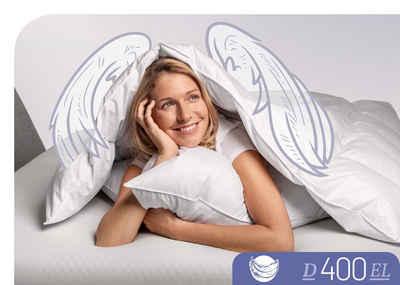 Daunenbettdecke, »D400«, Schlafstil, Füllung: 90% Daunen, 10% Federn, Bezug: 100% Baumwolle, hergestellt in Deutschland, allergikerfreundlich