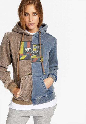 khujo Kapuzensweatshirt »HESTIA TESTCARD« mit Print