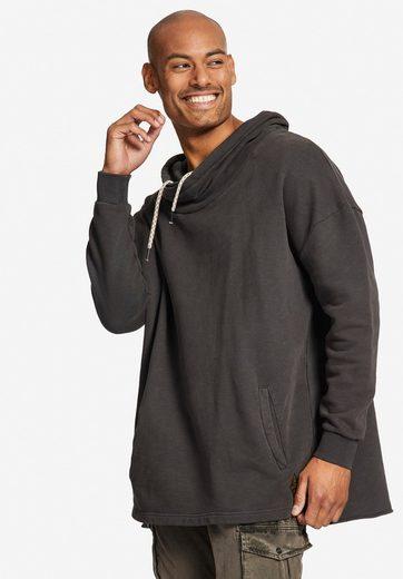 khujo Sweatshirt »TAPES« mit weitem Tube-Kragen