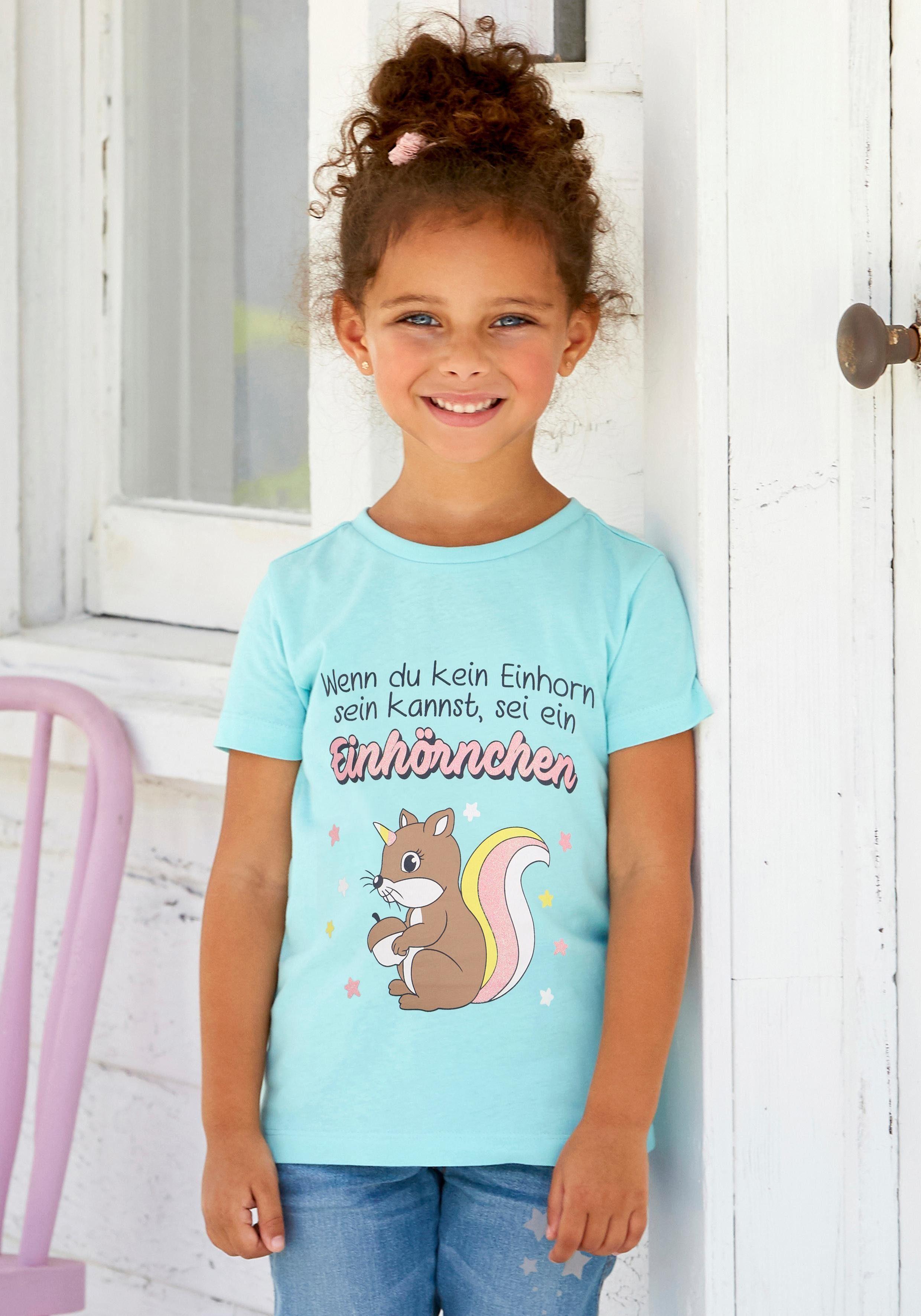 Arizona T-Shirt »EINHÖRNCHEN« mit Glitzerdruck