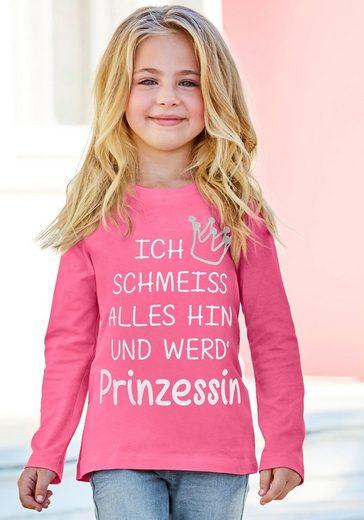 KIDSWORLD Langarmshirt »Prinzessin« mit Glitzerdruck