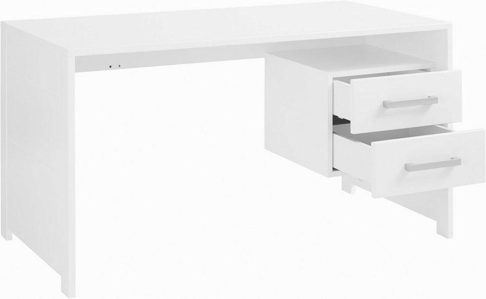 INOSIGN Schreibtisch »Style« aus schönem weiß/lackiertem Holz, mit viel  Stauraum, Breite 137 cm online kaufen | OTTO