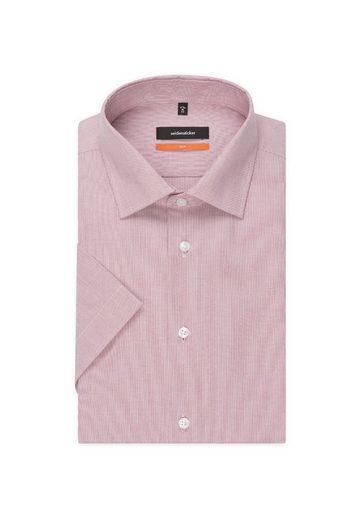 Slim Businesshemd Seidensticker Kurzarm kragen Streifen »slim« Kent wEqRZ