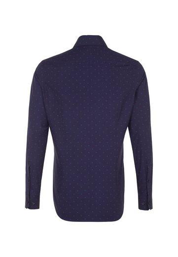 Seidensticker Langarm Kent Print Slim »slim« kragen Businesshemd Rqw84trRx