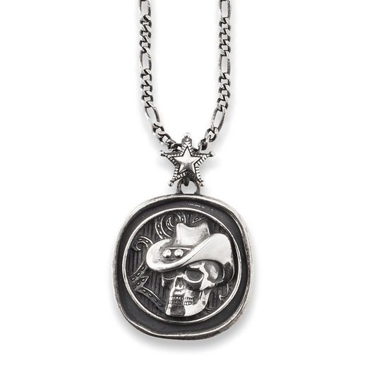 CAÏ Anhänger mit Kette »925/- Sterling Silber oxidiert Münze«