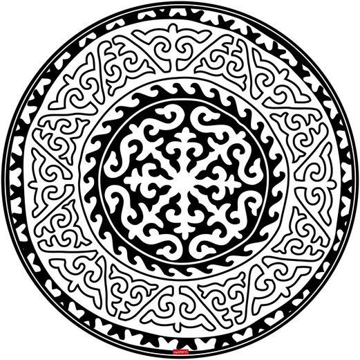 MYSPOTTI Vinylbodenmatte »Nimani«, rund, wasserfest und statisch haftend