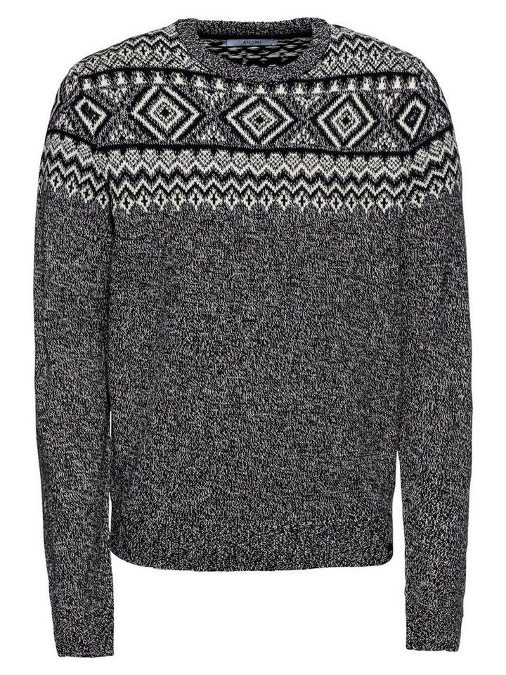 KIOMI Norwegerpullover »KM-0918-0362« | Bekleidung > Pullover > Norwegerpullover | Weiß | KIOMI