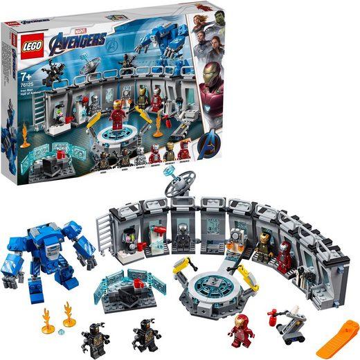 LEGO® Konstruktionsspielsteine »Iron Mans Werkstatt (76125) LEGO® Marvel Super Heroes™«, (524 St)