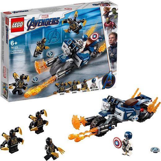 LEGO® Konstruktionsspielsteine »Captain America: Outrider Attacke (76123), LEGO® Marvel Super Heroes™«, Kunststoff, (167 St)
