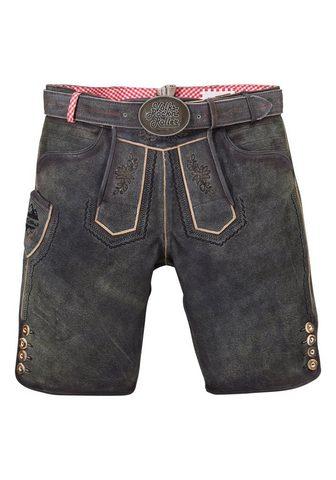 ANDREAS GABALIER KOLLEKTION Odinės tautinio stiliaus kelnės trumpa...