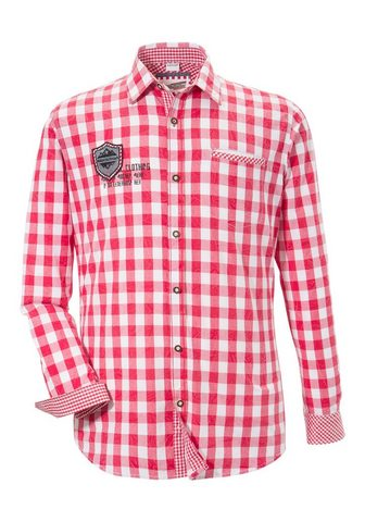 ANDREAS GABALIER KOLLEKTION Рубашка в национальном костюме в клетч...
