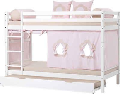 Hoppekids Etagenbett »Fairytale Flower«, inkl. Vorhang-Set, 2 Matratzen und 2 Rollroste