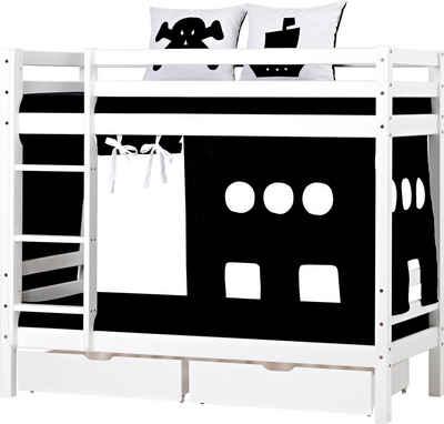 Hoppekids Etagenbett »Pirat«, inkl. Vorhang, 2 Matratzen und 2 Rollroste
