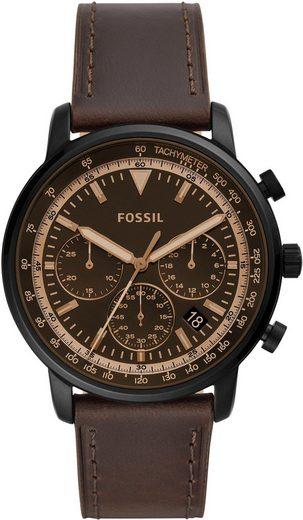 Fossil Chronograph »GOODWIN CHRONO, FS5529« mit bernsteinfarbenem Mineralglas