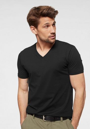 Esprit V-Shirt mit Bündchen