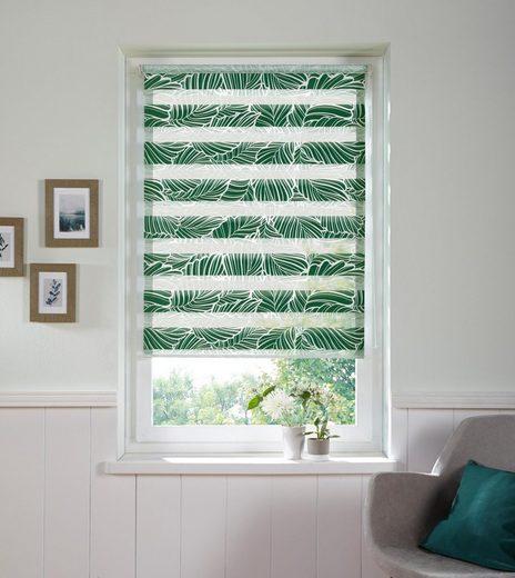 Doppelrollo »Wald«, my home, Lichtschutz, ohne Bohren, freihängend, im Fixmaß